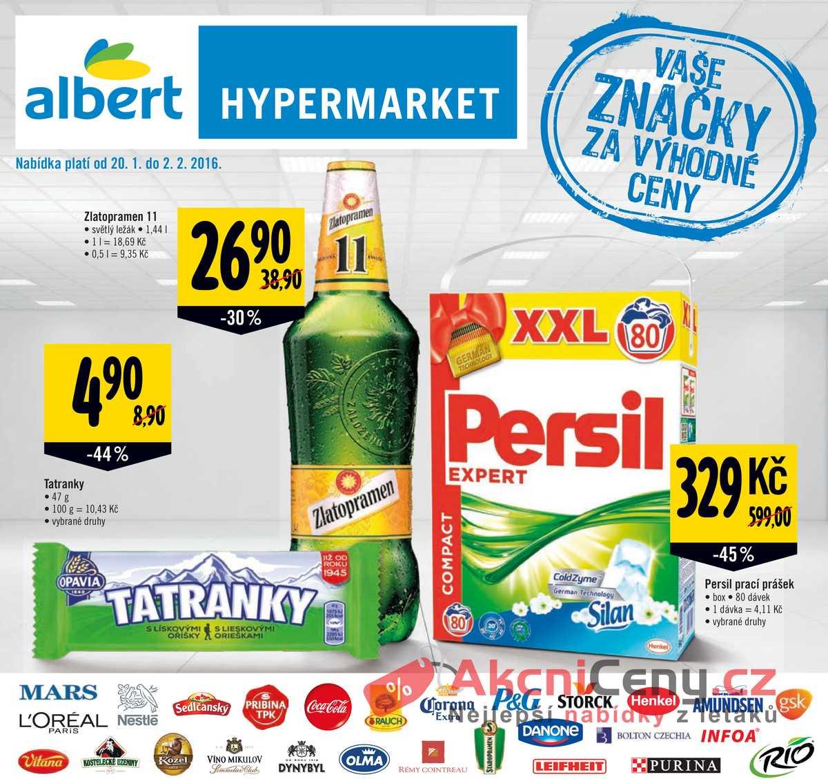 Leták Albert Hypermarket Katalog 20.1 - 2.2