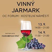 Vinný jarmark na Kostelním náměstí před OC Forum Ústí nad Labem