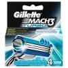 Gillette Mach3 Turbo Náhradní hlavice k pánskému holicímu strojku 4 ks