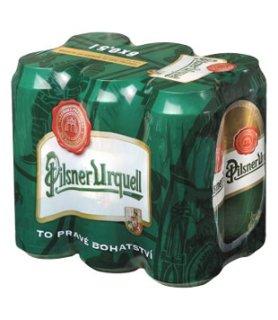 Pilsner Urquell 12°, světlý ležák, plechovka (6 kusů)