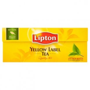 Lipton čaj černý čaj Yellow Label 25 sáčků, vybrané druhy