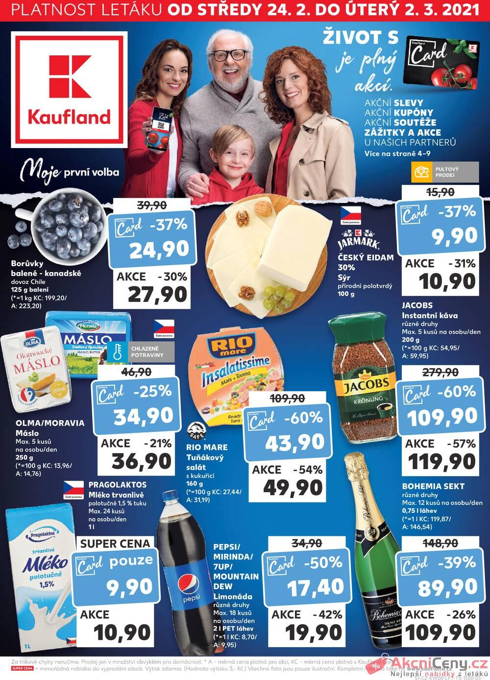 Leták Kaufland - Kaufland 24.2. - 2.3. - Kaufland - Ostrava - Zábřeh - strana 1