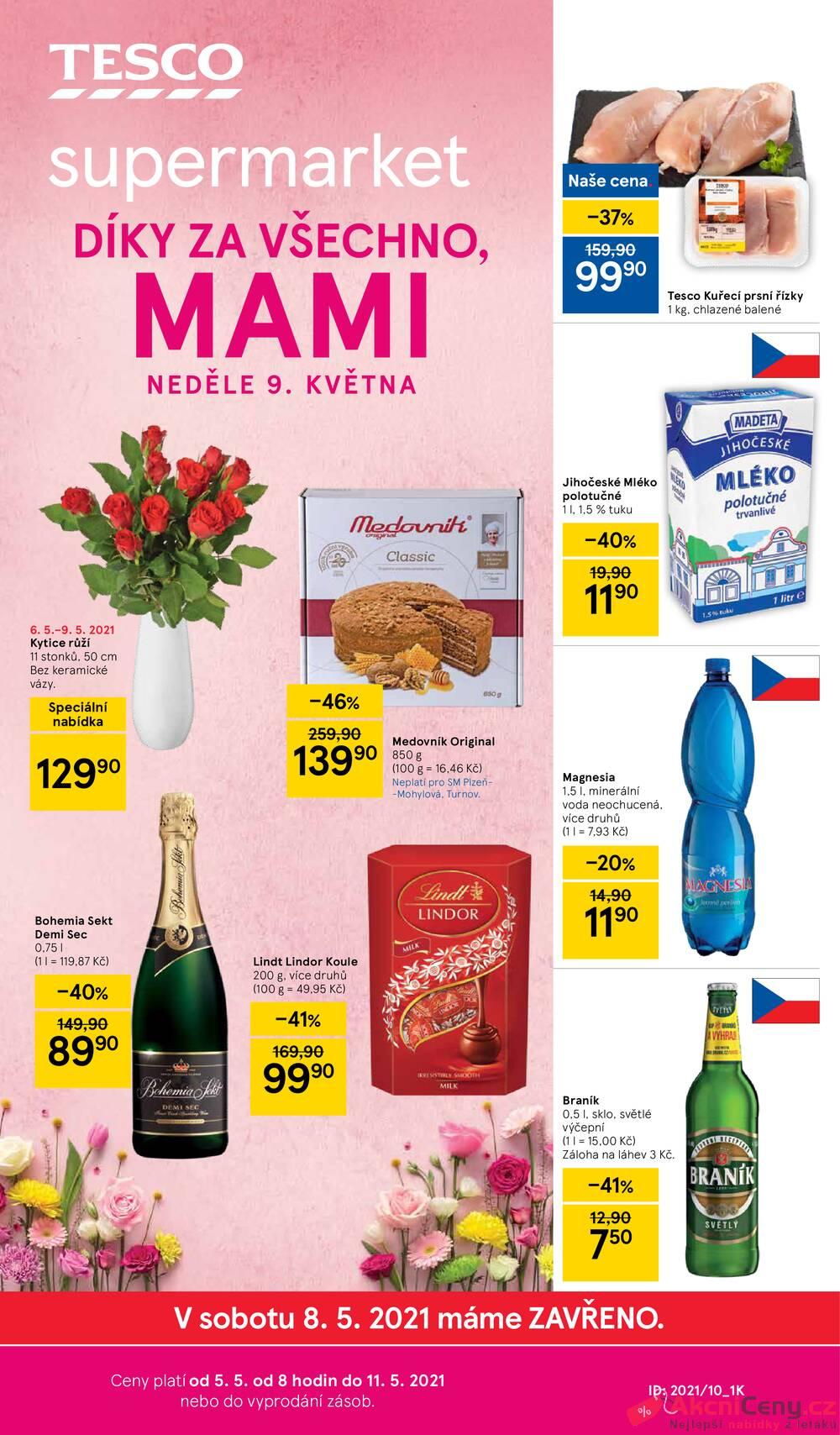 Leták Tesco - Tesco supermarkety od 5.5. do 11.5.2021 - strana 1