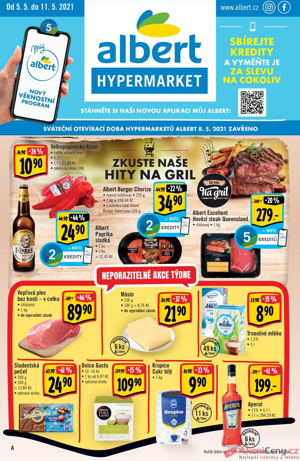Leták Albert - Albert  Hypermarket od 5.5. do 11.5.2021 - strana 1