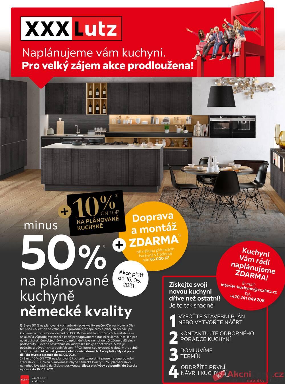 Leták XXXLutz - XXXlutz Kuchyně 50% + 10% ON TOP 1.5. - 16.5. - strana 1