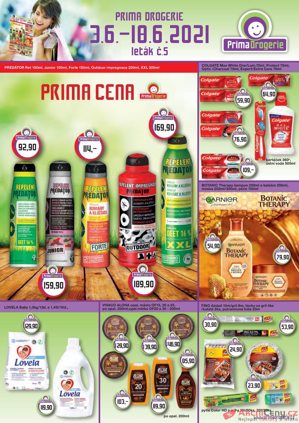 Leták Prima Drogerie - Prima drogerie  od 3.6. do 18.6.2021 - strana 1