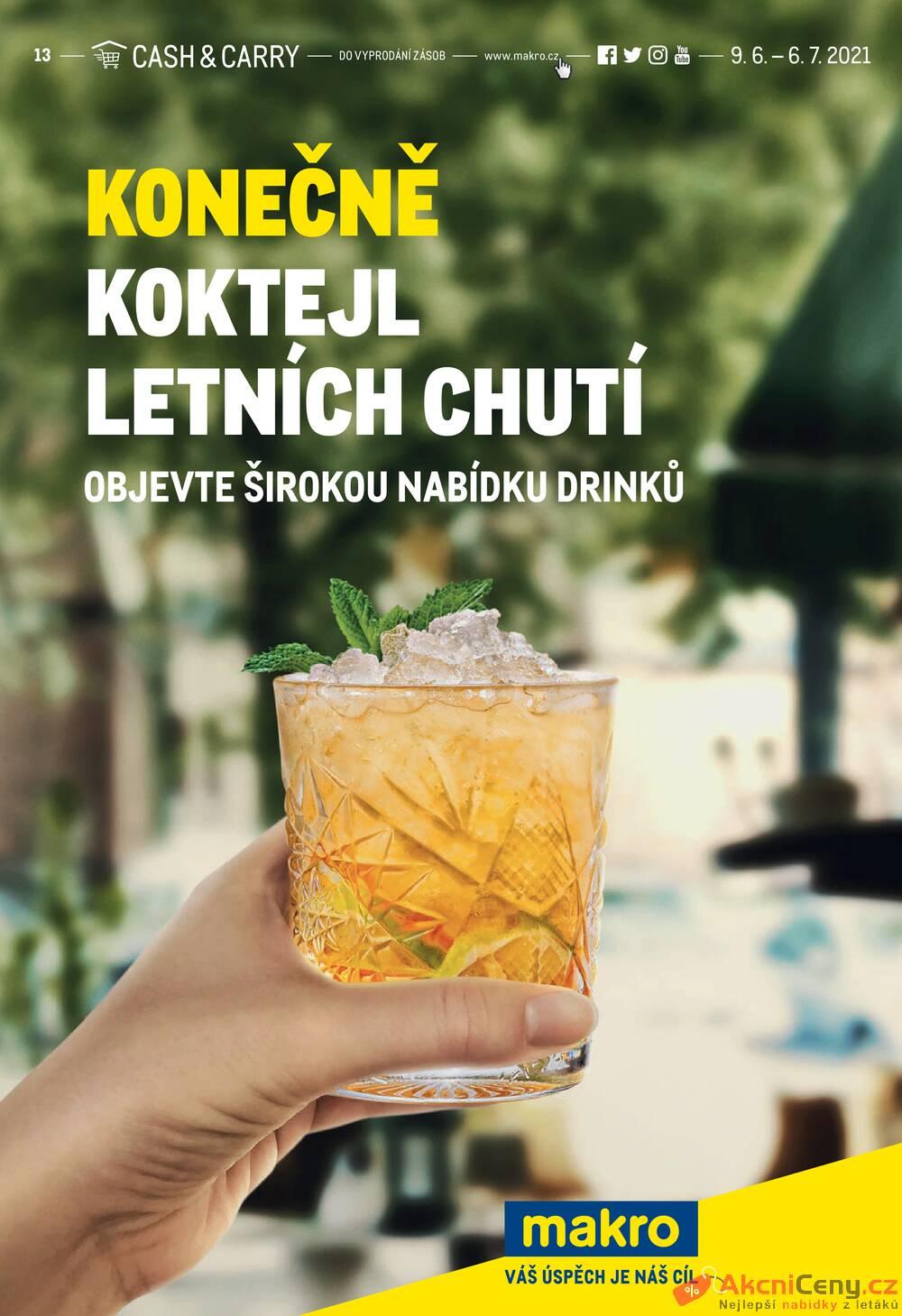 Leták MAKRO - Makro Konečně koktejl letních chutí do 6.7. - strana 1
