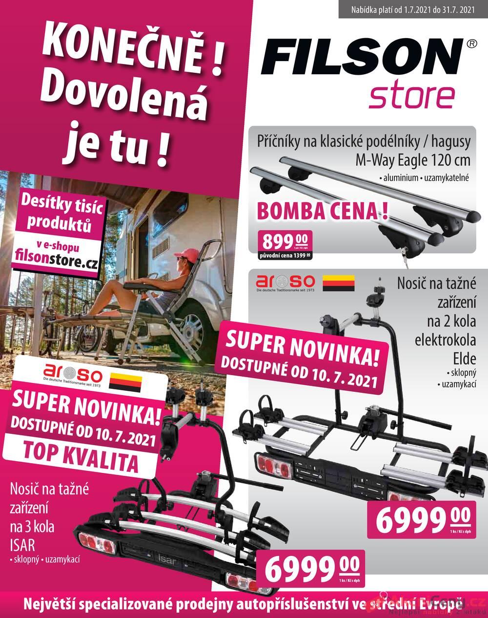 Leták Filson Store - Filson Store od 1.7. do 31.7.2021 - strana 1