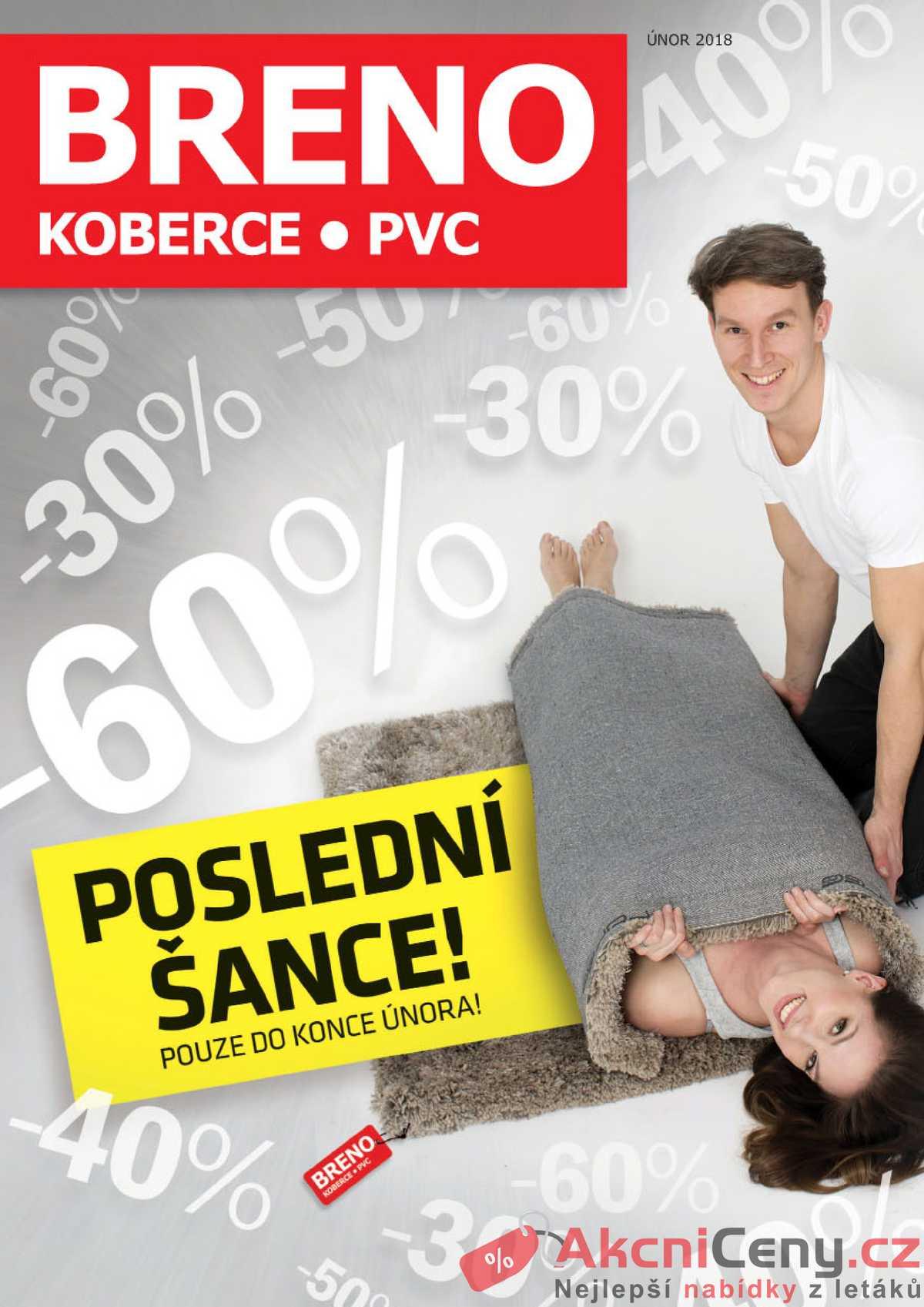 Leták Koberce BRENO - Koberce BRENO do 28.2. - strana 1