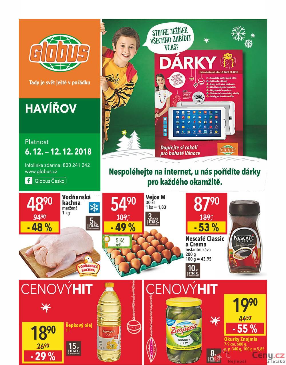 Leták Globus - Globus Havířov  6.12. - 12.12. - strana 1