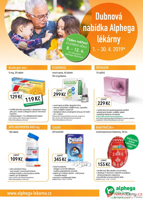 Leták Alphega Lékárna - Alphega Lékárna 1.4. - 30.4. - strana 1