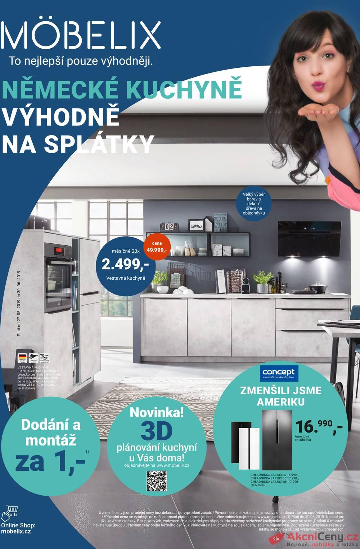 Leták Möbelix - Möbelix kuchyně od 27.5. do 30.6.2019 - strana 1