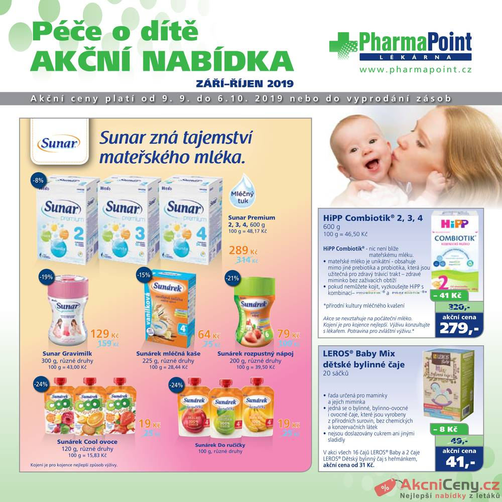 Leták PharmaPoint  - Pharma Point typ A od 9.9. do 6.10.2019 - strana 1