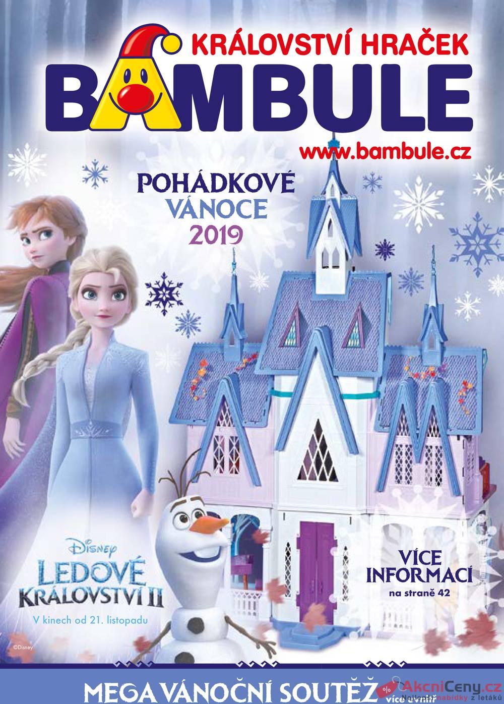 Leták Bambule - Bambule Vánoční katalog od 4.10. do 31.12.2019 - strana 1