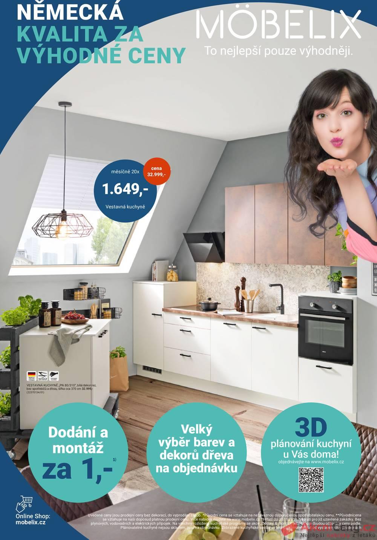 Leták Möbelix - Möbelix kuchyně od 4.11. do 30.11.2019 - strana 1