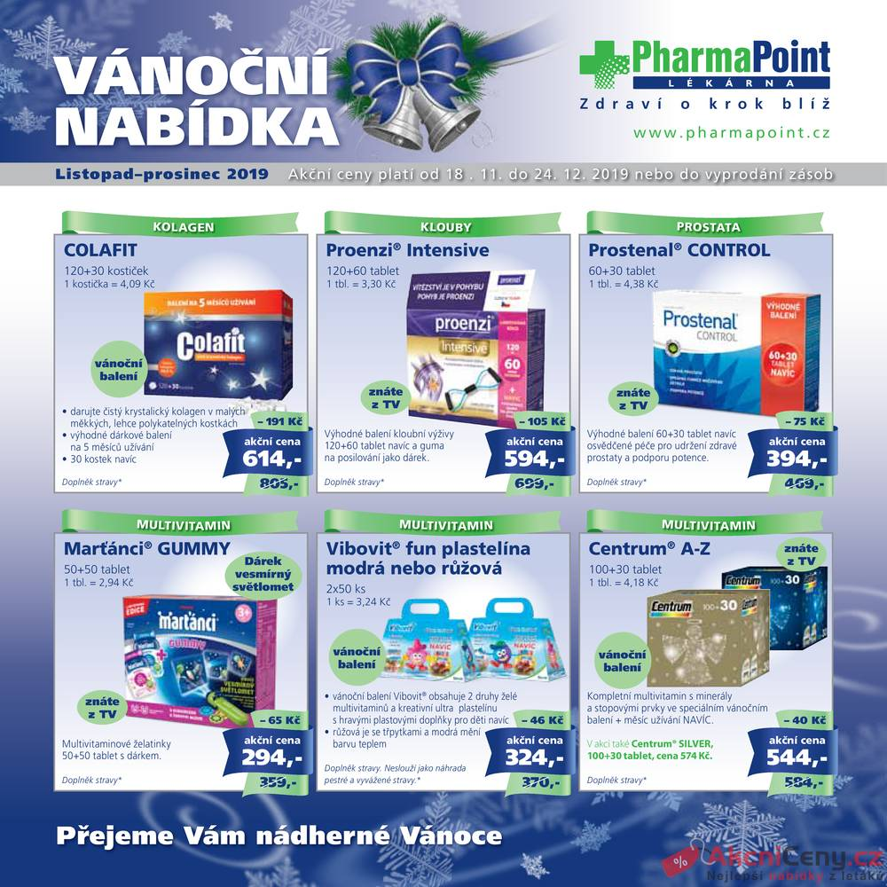 Leták PharmaPoint  - Pharma Point od 18.11. do 24.12.2019 - strana 1
