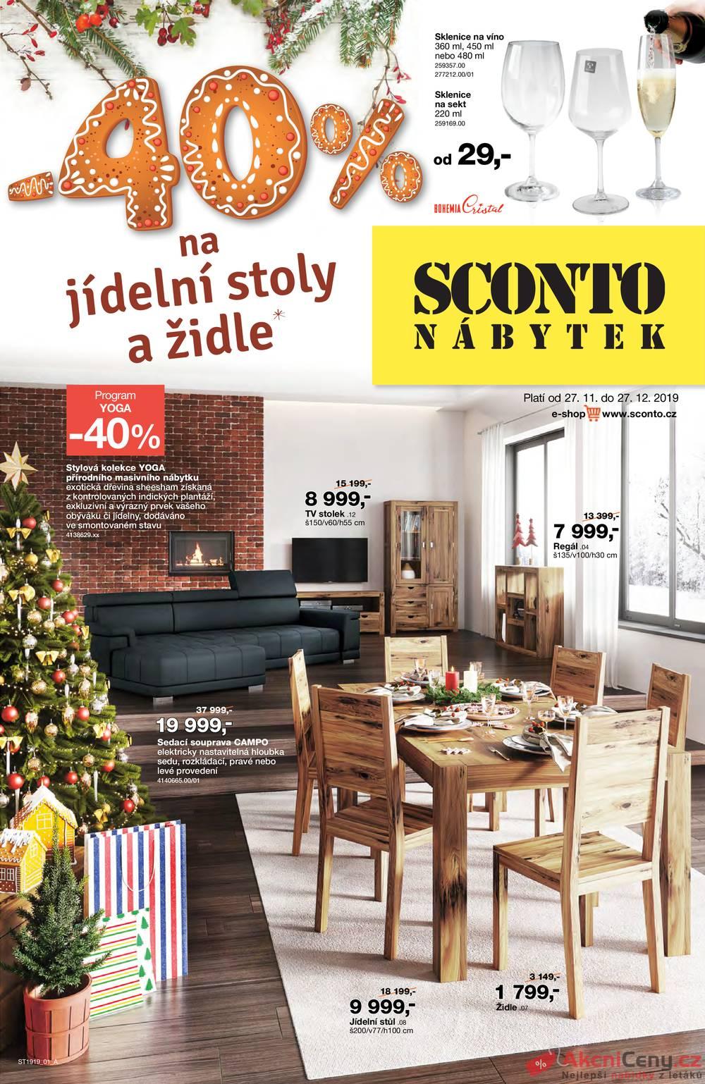 Leták Sconto nábytek - Sconto nábytek od 27.11. do 27.12.2019 - strana 1