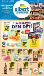 Leták Albert Supermarket 27.5. - 2.6. Praha - Elišky Přemyslovny