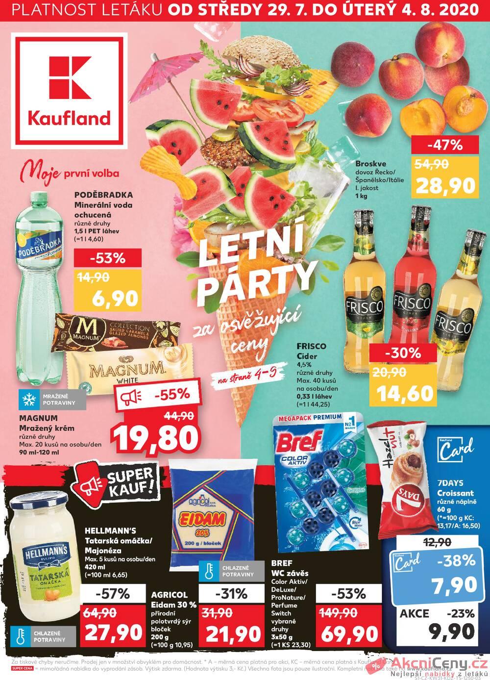 Leták Kaufland - Kaufland 29.7. - 4.8. - Kaufland - Cheb - strana 1
