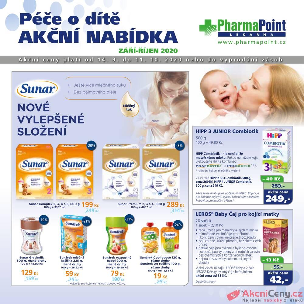 Leták PharmaPoint  - Pharma Point bez přepisu od 14.9. do 11.10.2020 - strana 1
