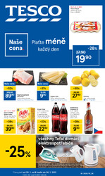 Leták Tesco malé hypermarkety od 20.1. do 26.1.2021