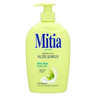 Mitia Tekuté mýdlo s dávkovačem, vybrané druhy