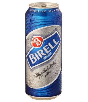 Radegast Birell světlý, nealkoholické pivo (plechovka) 0,5l