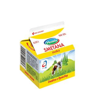 Moravia čerstvá sladká smetana 12%