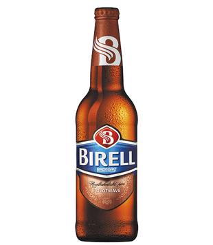 Radegast Birell polotmavý, nealkoholické pivo