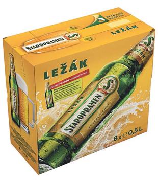 Staropramen Ležák, světlé pivo (8 lahví)