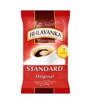 Jihlavanka Standard Original pražená mletá káva 250g, vybrané druhy
