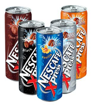 ledová káva Nescafe XPress, různé druhy