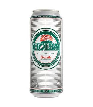 Holba Šerák, světlé výčepní pivo (plechovka)