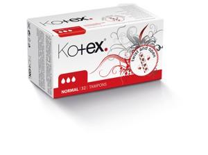 Kotex dámské hygienické tampony, vybrané druhy