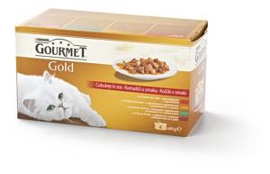 Gourmet Gold konzervy pro kočky 4×85 g, vybrané druhy