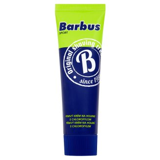 Barbus Sport pěnivý krém na holení s chlorofylem