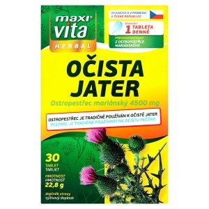 MaxiVita Herbal Očista jater 30 tablet 22,8g