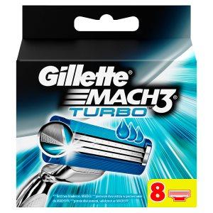 Gillette Mach3 Turbo Náhradní hlavice k pánskému holicímu strojku 8 ks