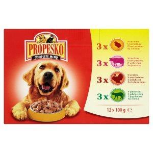 Propesko kapsička pro psy 12 x 100g, vybrané druhy