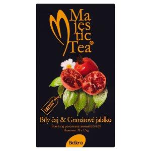 Biogena Majestic Tea Bílý čaj & Granátové jablko pravý čaj porcovaný aromatizovaný 20 x 1,5g