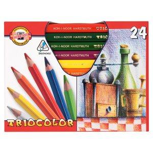 KOH-I-NOOR Triocolor trojhranné pastelky 24 ks TR 10,5