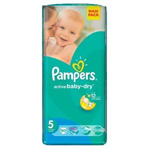 Pampers Active Baby-Dry Dětské jednorázové pleny 5 junior 50 ks