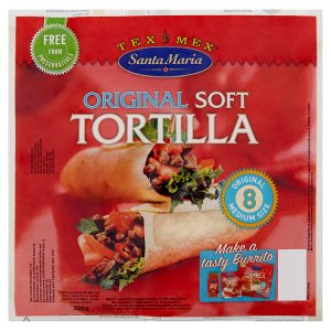Santa Maria Tex Mex Original soft mexické pšeničné tortilly 320g