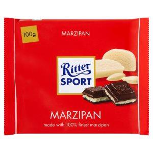 Ritter Sport Hořká čokoláda s marcipánovou náplní 100g