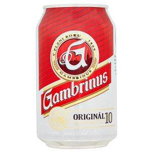 Gambrinus Originál 10 pivo výčepní světlé 330ml plechovka