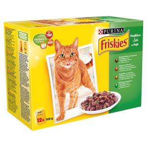 FRISKIES Multipack kapsiček pro kočky - masový výběr v želé 12 x 100g