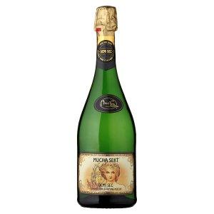 Mucha Sekt  šumivé víno bílé 0,75l, vybrané druhy