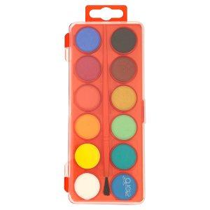 Aero Vodové barvy kulaté 12 barev