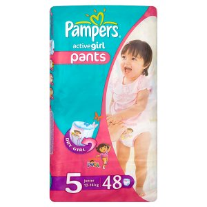 Pampers Active Girl Pleny 5 Junior 48 ks