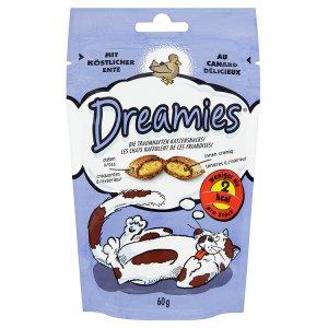 Dreamies Polštářky s lahodným kachním masem doplňkové krmivo pro kočky a koťata 60g